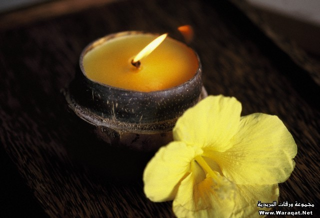 Aromatic candle in a spa