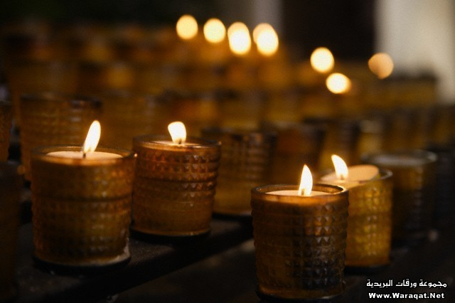 Germany, Schaeftlarn, View of candles for rogation in church, close up