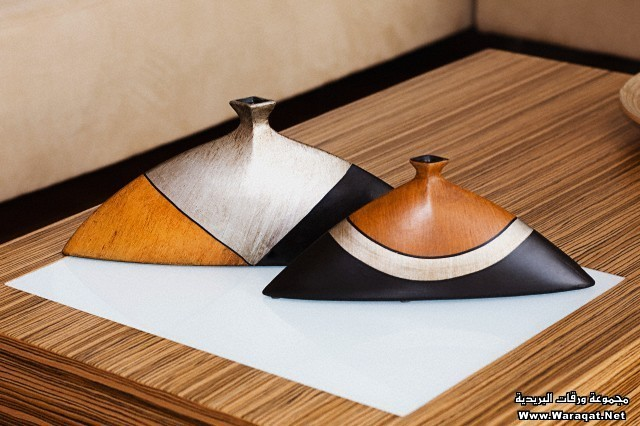 Incense stick holders on a table