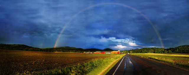 Rainbow in Countryside