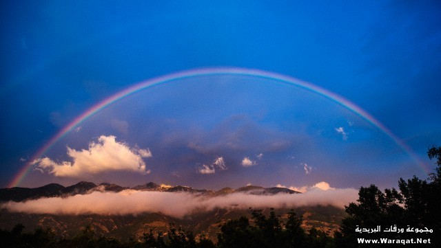 Rainbow over mountains, Sandy, Utah