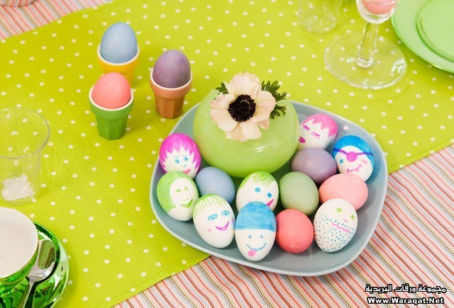 Easter eggs with amusing decoration