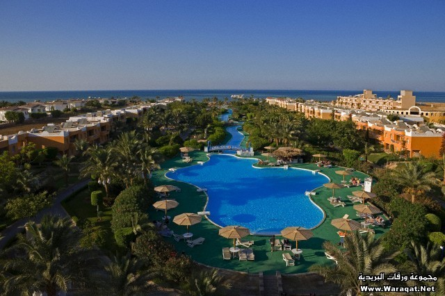 Egypt, Red Sea, Hurghada, panoramic view on Calimera Hotel