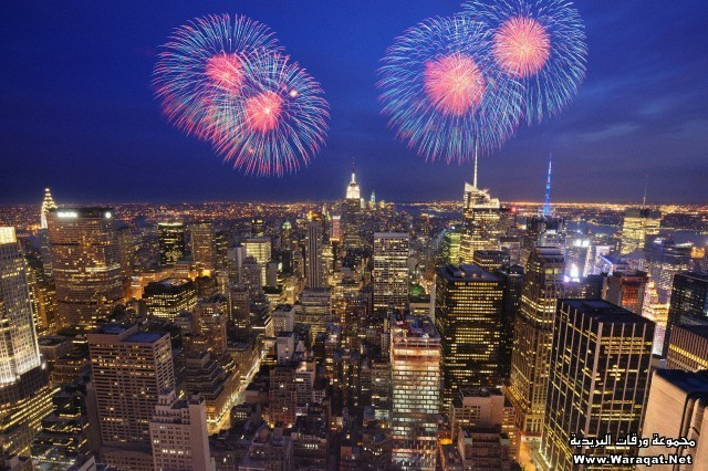 Fireworks,Empire State Building,Manhattan,New York,USA