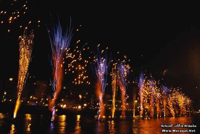 Fireworks on River Liffey