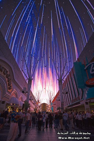 Fireworks on Fremont Street in Las Vegas