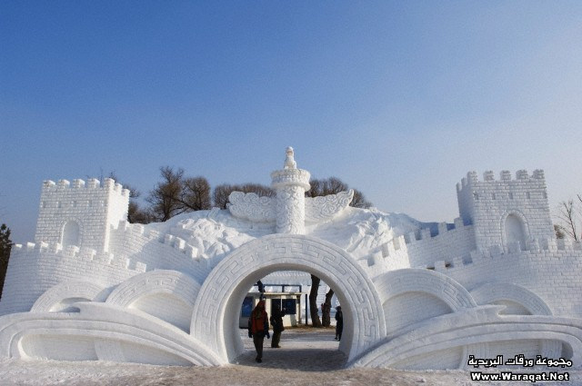 Snow and Ice Sculpture Festival at Sun Island Park, Harbin, Heilongjiang Province, Northeast China, Asia