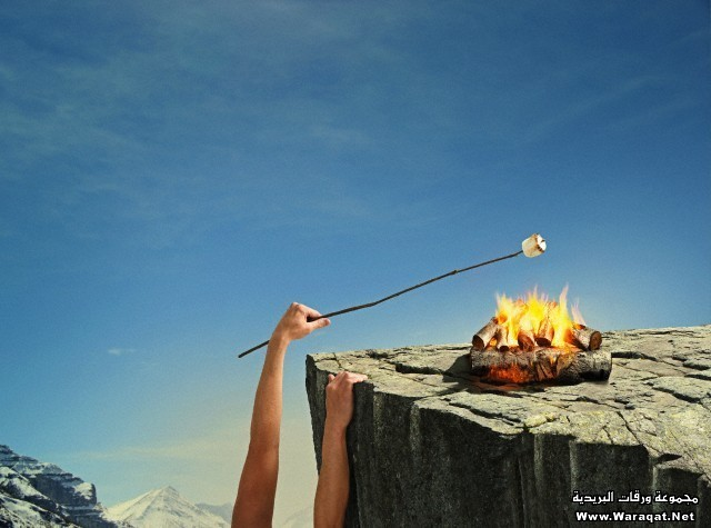 Smores on cliff
