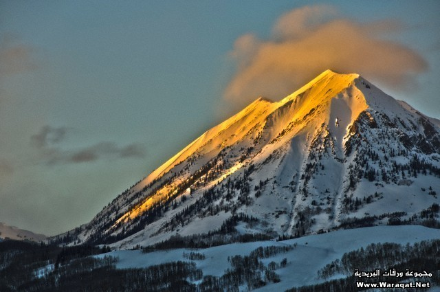 Alpenglow on Mount Gothic Crested Butte Colorado
