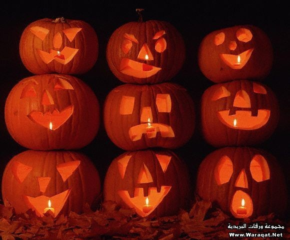 Stacked Jack-O'-Lanterns