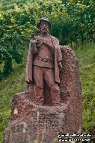 Germany, Black Forest, Schwarzwald, Baden Wurttemberg, Sasbachwalden, statue of patron Saint St Wendelin, on the Badische Weinstrasse, the touristic wine road of the Baden Country