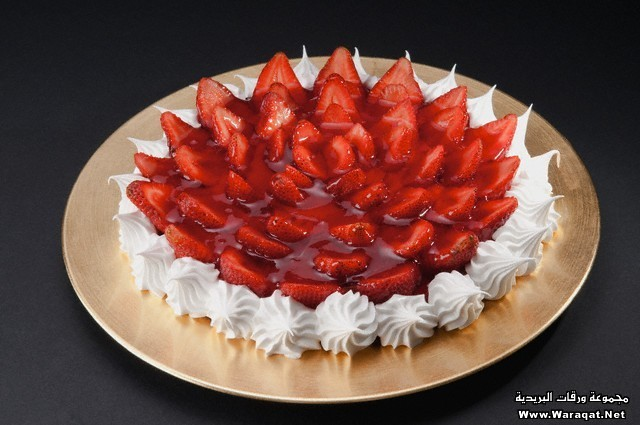 Close-up of a strawberry meringue