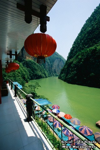 Restaurant on Daning River in Three Lesser Gorges