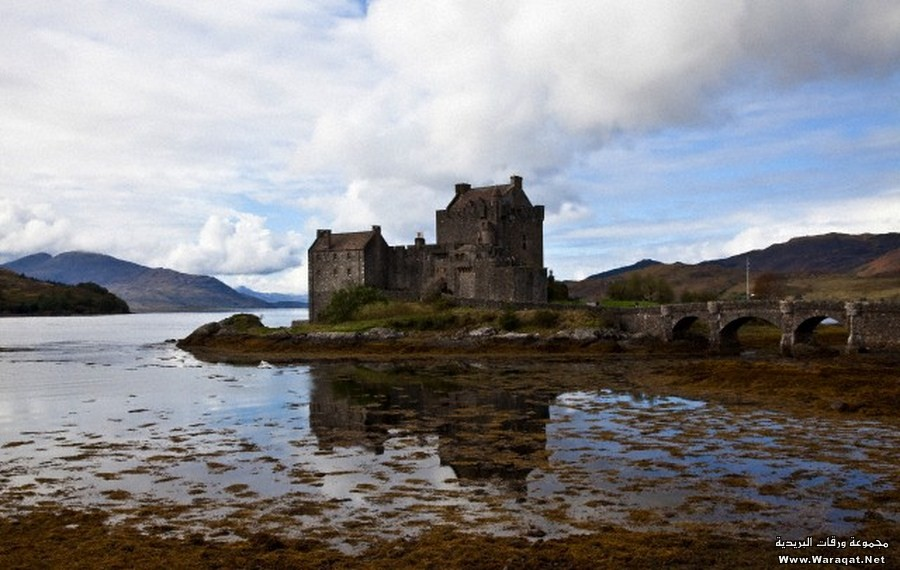 Eilean Donan, site of a medieval castle rebuilt in the 20thcentury, Loch Duich, Highland, Scotland
