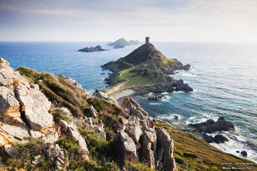 Ajaccio and its rocky coastline