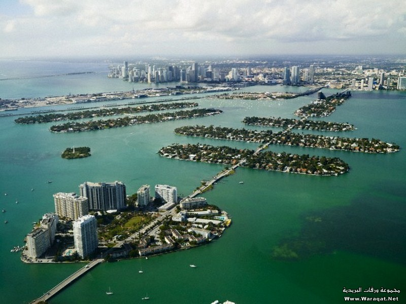 Aerial photo of Miami, Florida, USA