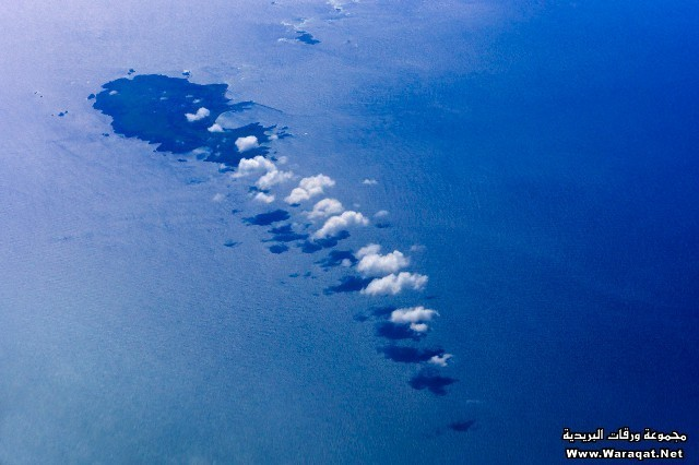 Aerial view of clouds above the Atlantic Ocean